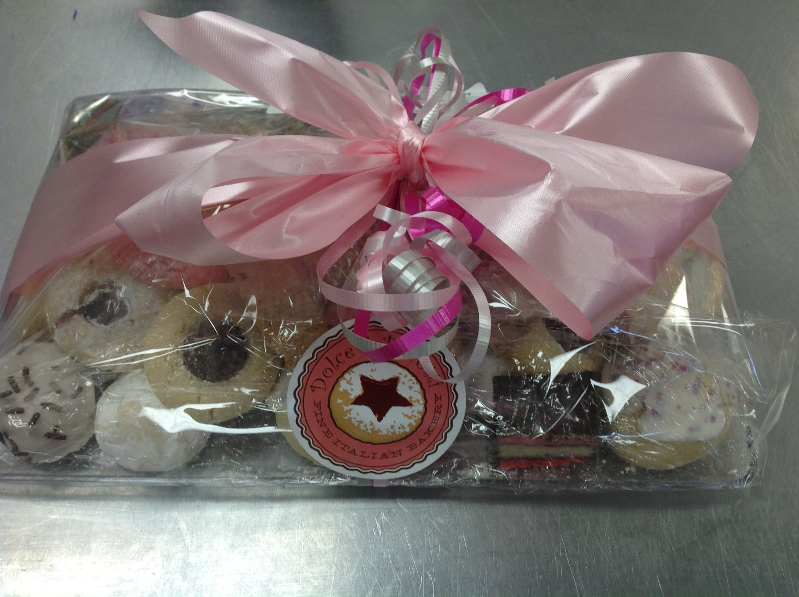 Assorted cookie platters at Dolce and Biscotti Italian Bakery