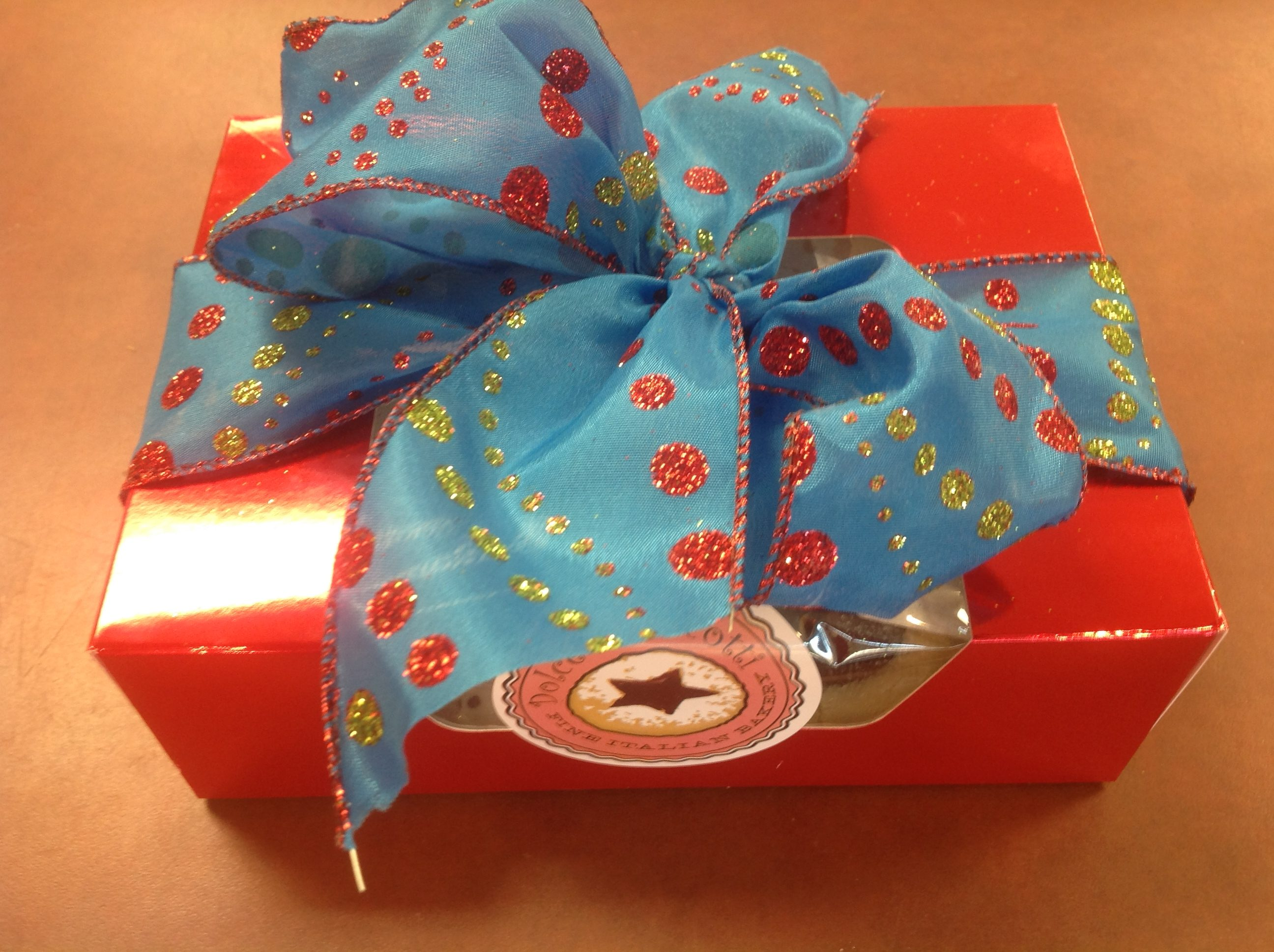 Cookie boxes at Dolce and Biscotti Italian Bakery