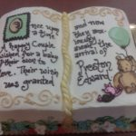 Baby Shower Open Book style cake at Dolce and Biscotti Italian Bakery
