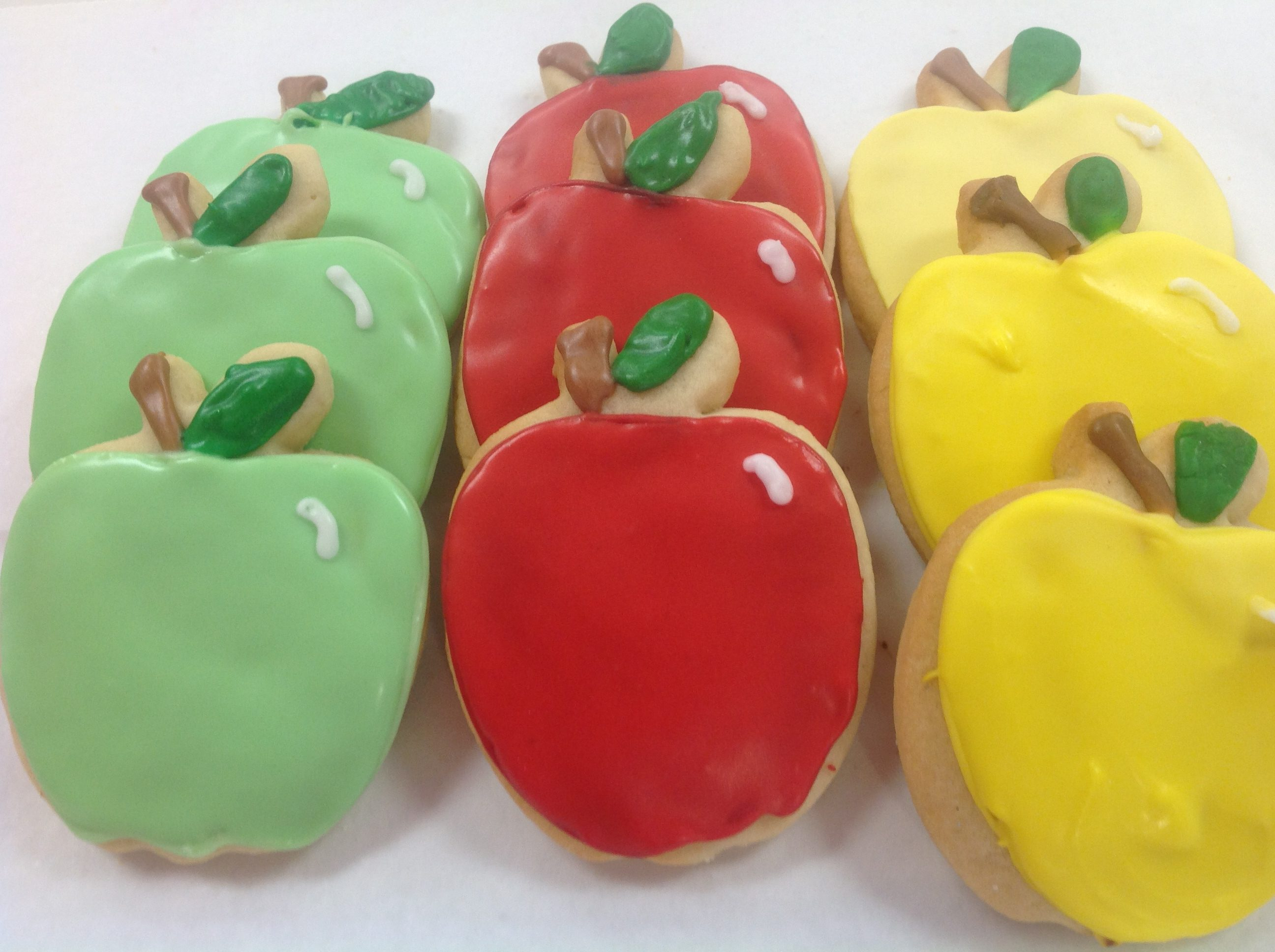Apple Cutout Cookies at Dolce and Biscotti Italian Bakery