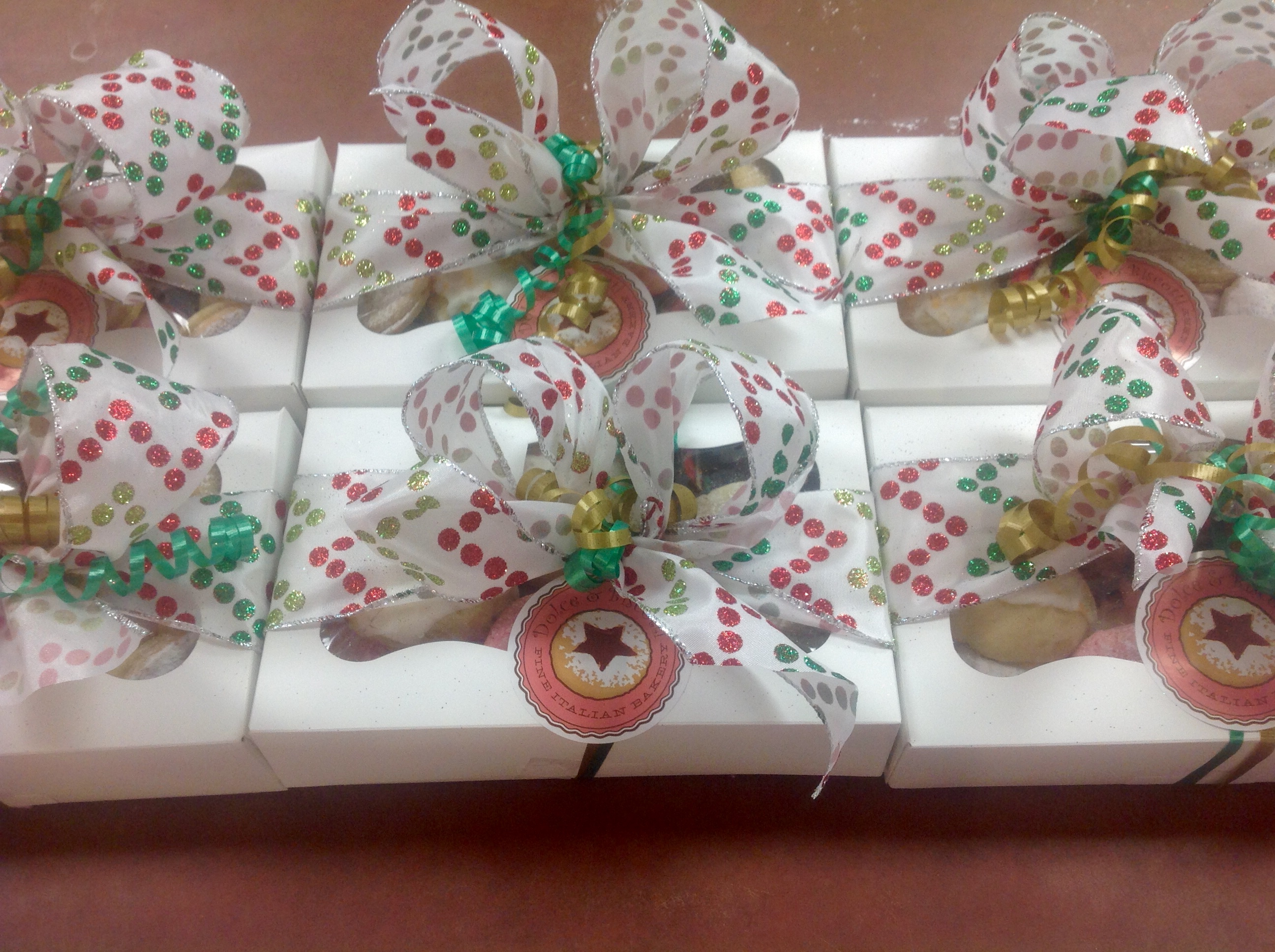 Cookie Boxes with Bows