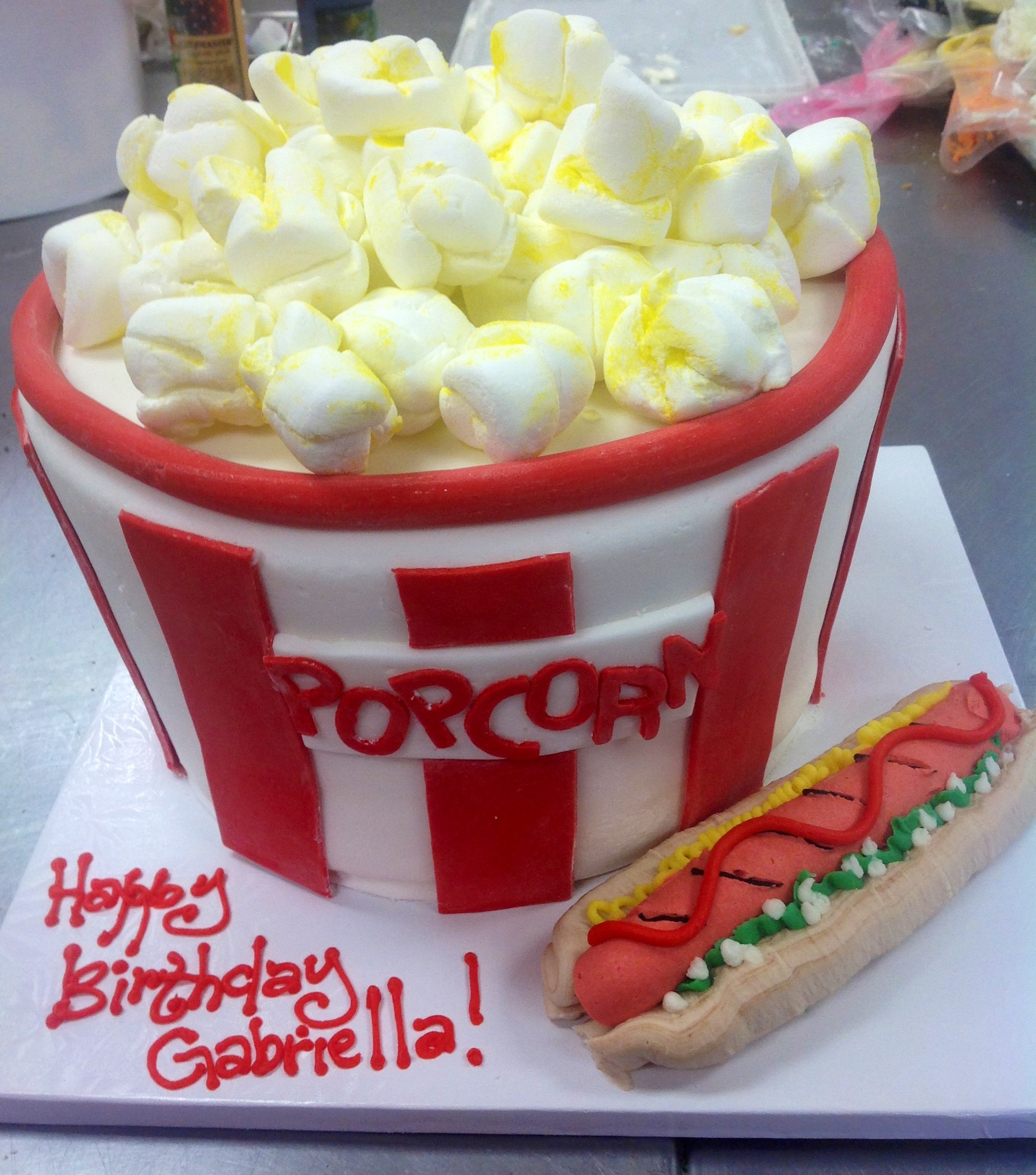 Fondant birthday cakes at Dolce and Biscotti Italian Bakery
