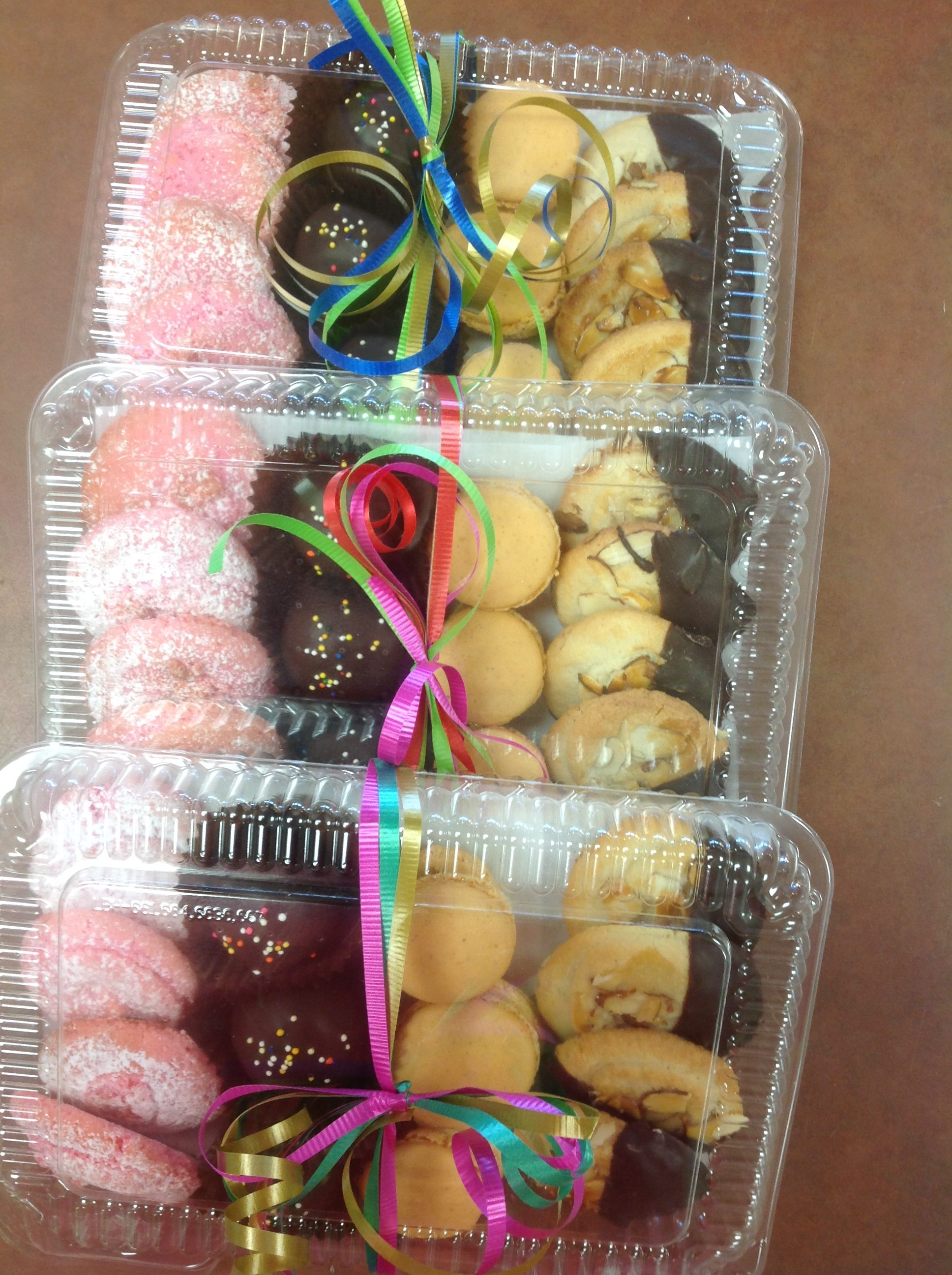 Gluten free cookie platters at Dolce and Biscotti Italian Bakery