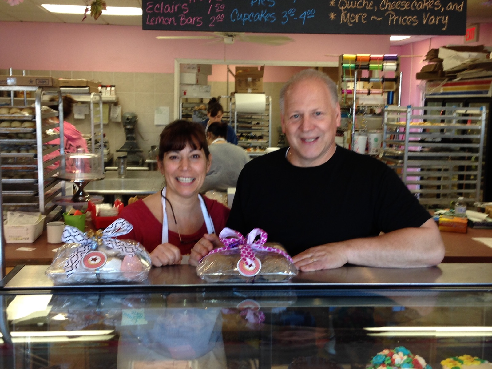 Mary Baldi-Fron and Tom Fron, owners at Dolce and Biscotti Italian Bakery