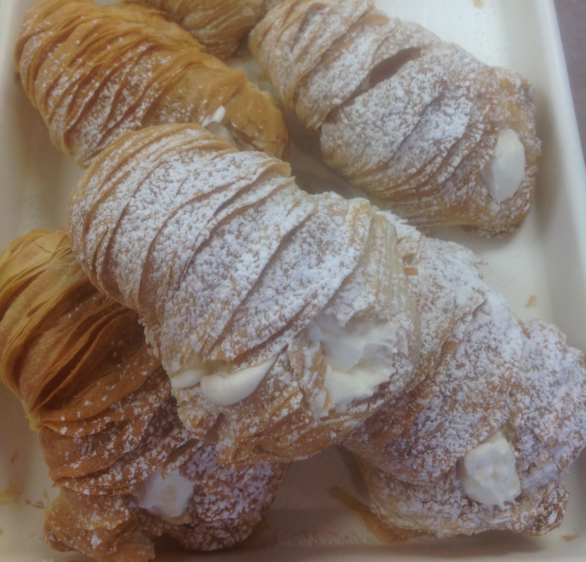 Lobster Tails Pastries at Dolce and Biscotti Italian Bakery