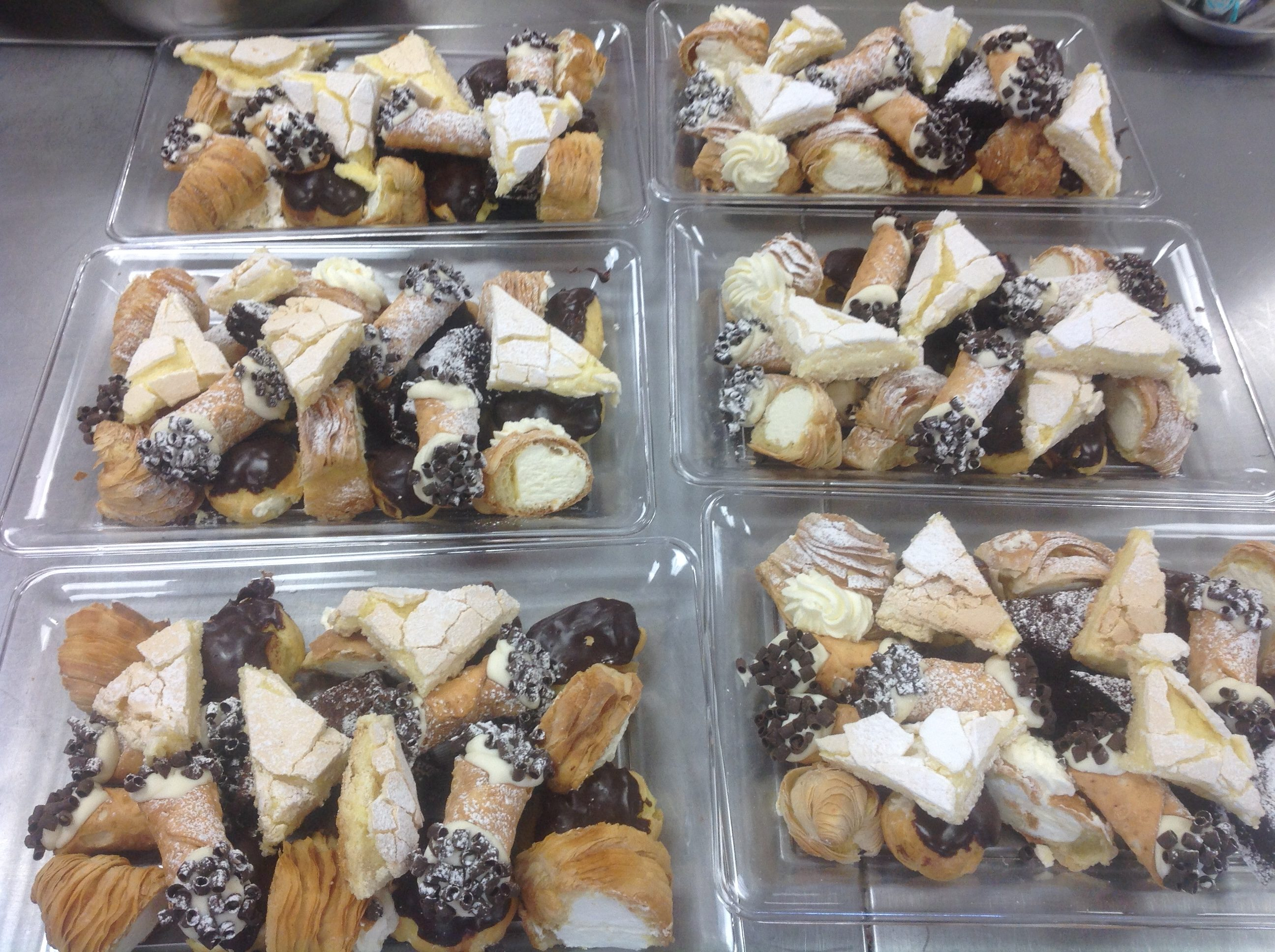 Pastry platters at Dolce and Biscotti Italian Bakery
