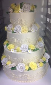 Tiered Traditional Wedding Cakes at Dolce and Biscotti Italian Bakery