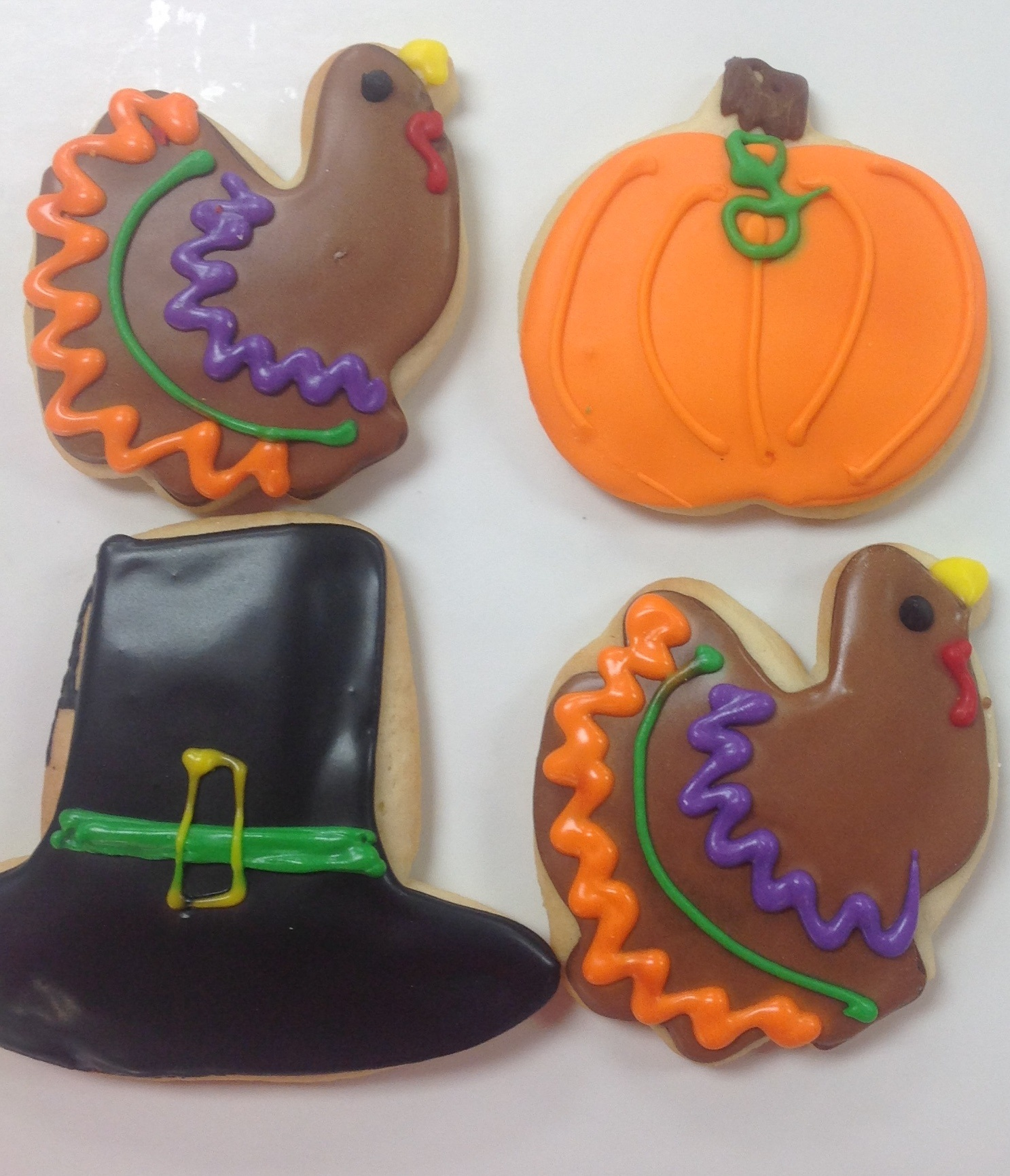 thanksgiving cookies at dolce and biscotti