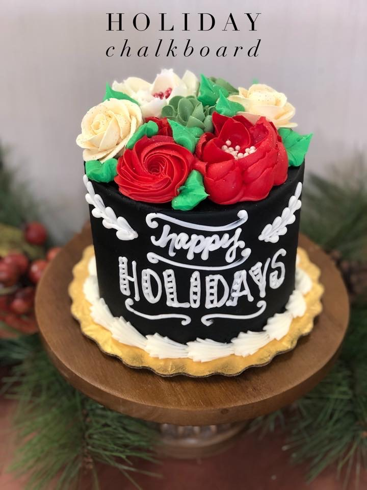 Happy Holidays Cake, Dolce & Biscotti